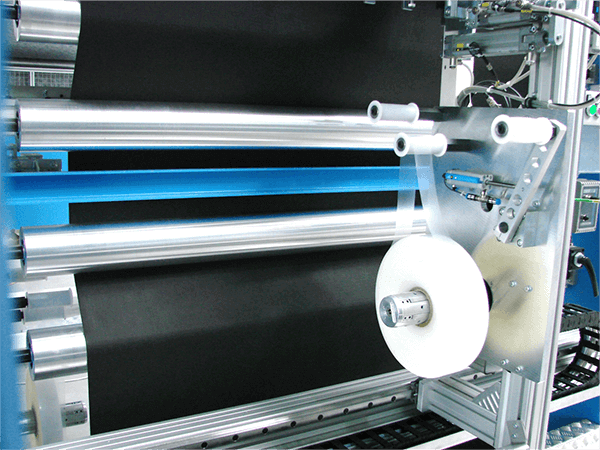 wrapping of ready wound rolls with an automatic professional wrapper