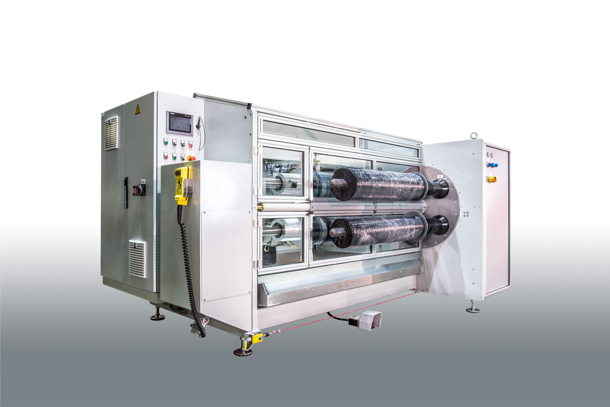 insulating web cutting machine DPM 1100 with 4 cutting shafts